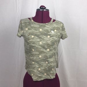 Girls Camo Gold Star Shirt